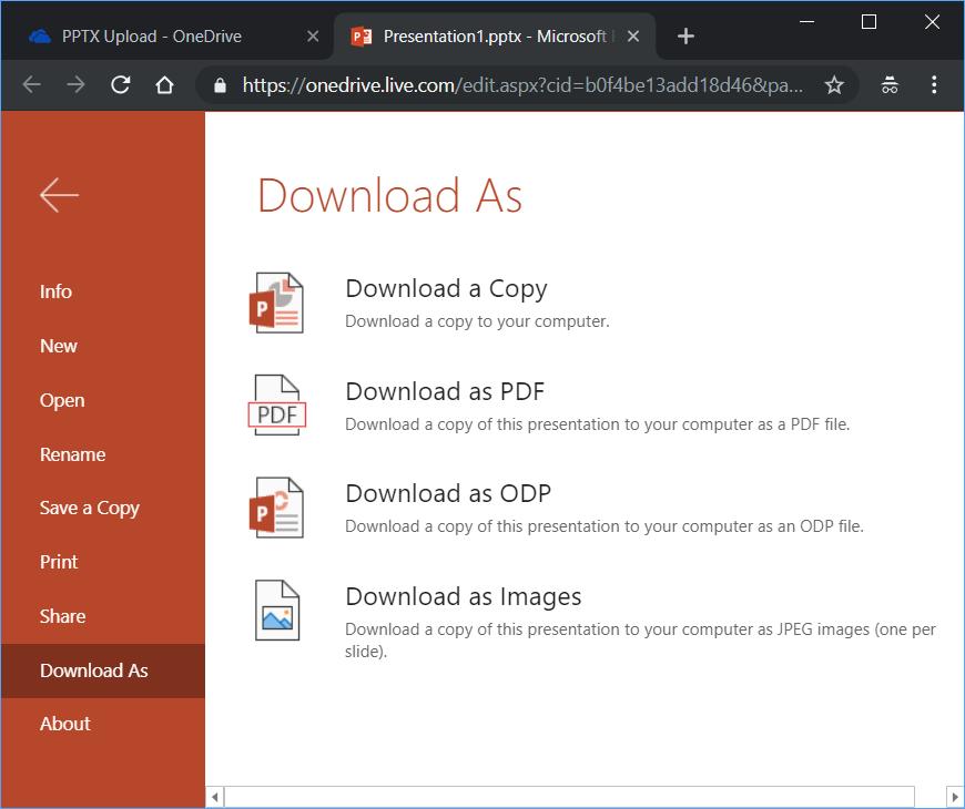 Open PPTX File on Windows